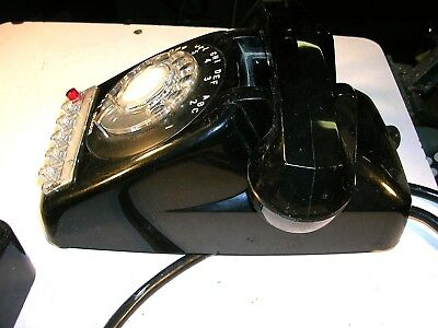 New Automatic Electric Co. 6 Button Desk Telephone  Black