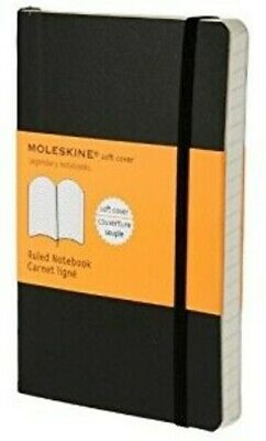 Moleskine Classic Notebook, Pocket, Ruled, Black, Soft Cover (3.5 x 5.5) [New Bo