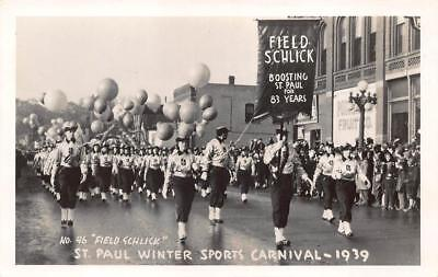 St Paul MN Winter Sports Carnival 1939 Field Schlick RPPC Postcard