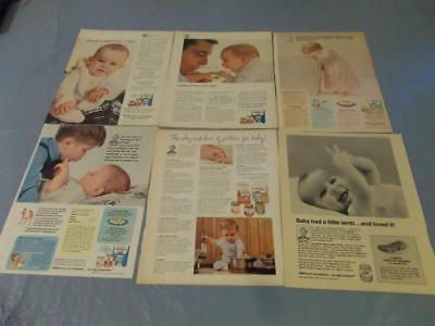 Lot of Gerber Baby food cereal vintage ads  clippings  #LK19