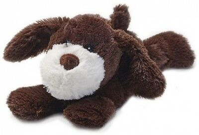 Intelex Warmies Heatable Laying Down Brown Puppy Microwavable Cozy Plush Soft
