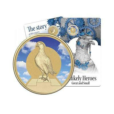 2015 Unlikely Heroes Great & Small Blue Cock Australian $1 Coloured UNC Coin RAM