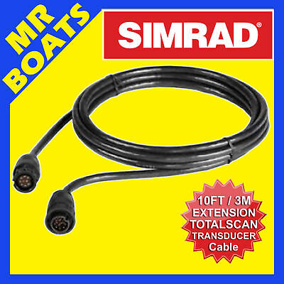 SIMRAD TOTALSCAN TRANSDUCER EXTENSION CABLE 10FT-9 Pin #000-00099-006 FREE POST