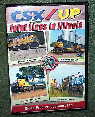 20399 Train Video Dvd Csx / Union Pacific Joint Lines In Illinois