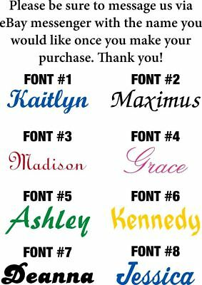PERSONALIZED VINYL NAME DECAL STICKER (UP TO 10 CHARACTERS ) - Various Sizes