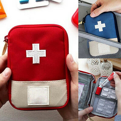 Travel Emergency First Aid Kit Carry Bag Pouch Medical Home Camping Car Holiday