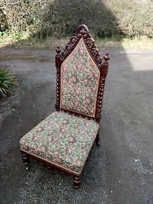 Antique chair victorian gothic nursing