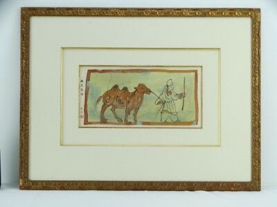 Art Sale : Hand painted Chinese Painting of a Camel Signed with Wax Seal China