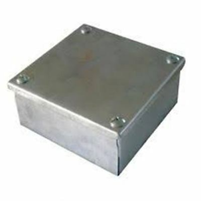 "Galvanised Adaptable Steel Box Electrical Enclosure 6x6x3"" inches 150x150x76mm"