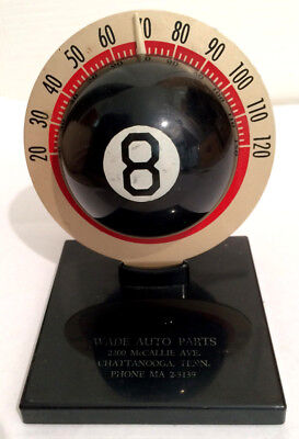 Thermometer 8-ball Eight Ball advertising Wade Auto Parts Chattanooga