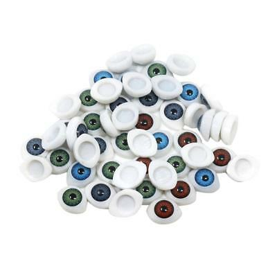 60x Plastic Glass Gothic Eyes Scrapbooking Embellishments for Dolls Making