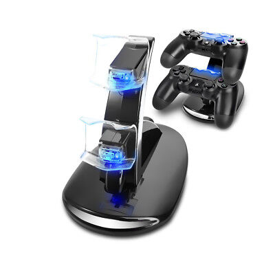 PS4 Ladestation PlayStation 4 Dockingstation 2 Controller USB Dual Charger LED