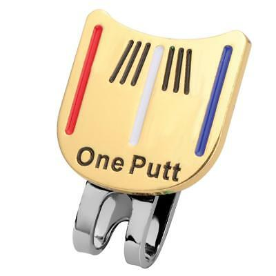 Magnetic Hat Clip Golf Ball Markers for Golf Cap Visor - One Putt