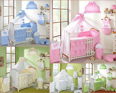 7p BABY BEDDING SET /BUMPER/CANOPY480cm/HOLDER for COT(120/60) or COTBED(140/70)