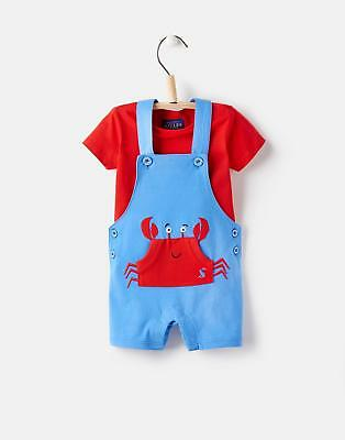 Joules 124731 Baby Boys Wade Dungaree Set in Whitby Blue