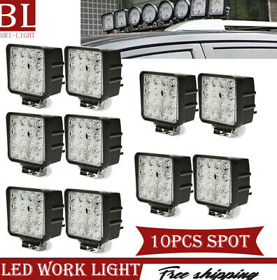 10X 48W SPOT LED Off road Work Light Lamp 12V 24V car boat Truck Driving UTE ATV