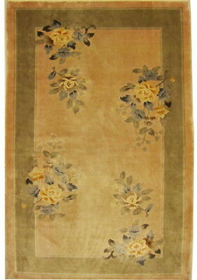 Peking China 90x165 handgeknüpft Orient Teppich 100% Seide Carpet Rug Silk