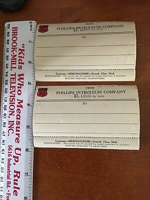 Original Phillips 66 NOS Shipping Labels.