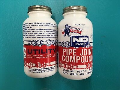 Utility No Drip Pipe Joint Compound 12-207   2 - 16oz Bottles
