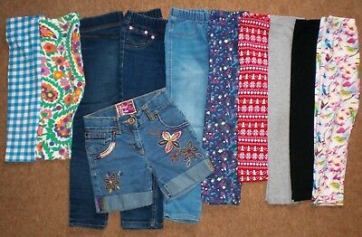 GIRLS SUMMER LEGGING BUNDLE 5 - 6 Years Old JEANS 3/4 Length Job Lot Clothing