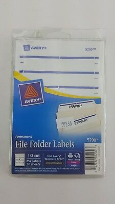 Avery Permanent File Folder Labels 2 75 x 0 625 Inches