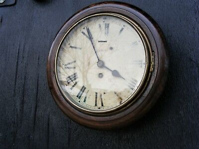 "Genuine Old Railways 8"" Dial Clock, Reads Lms, Running Order"