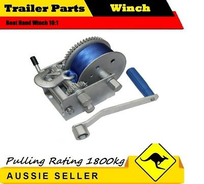JSS 1800KG 3 SPEED Boat Hand Winch 10:1 CAR BOAT TRAILER 4WD HAND WINCH