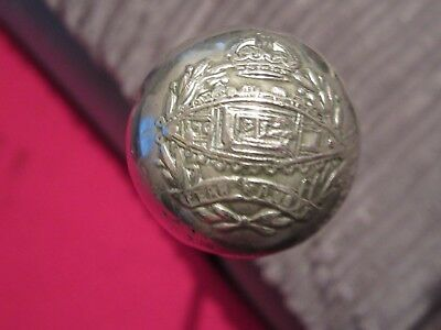 "Wwi-Wwii Officer's  British Royal Armoured Corps Swagger Stick "" Fear Naught"""