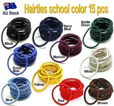 15 pcs Snagless Hair Ties / Hair Band / Hair Elastic / Ponytailer School colors