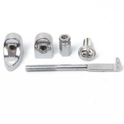 Chrome L Shape Bracket Shoe Flat Hook Nut Set for Banjo Luthier Supply