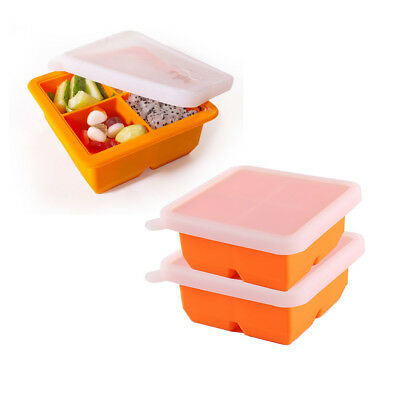 Set of 2 Ice Tray 4 x Large Cube Moulds
