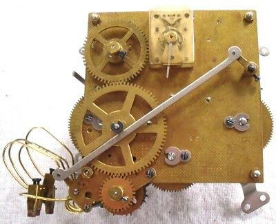 1937 Rare 'Junghans' Westminster 4x Hammer Clock Movement W200,Complete,Working.