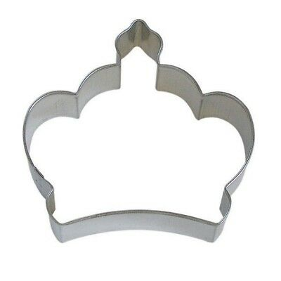 Stainless Steel Crown Cookie Cutter Princess Hens Mold Fondant Biscuits