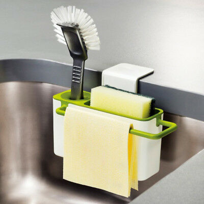 Green Kitchen Washing Holder Brush Sponge Sink Drain Towel Rack Kitchen Tidy
