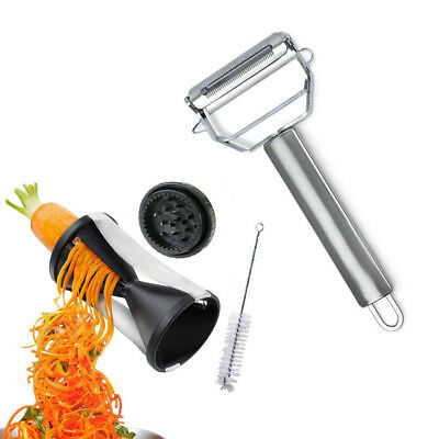 Ultimate Prep Chef Peeler and Garnish Grater Kitchen Tools with Free Gadget Clea