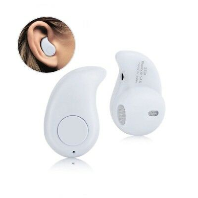 Mini Wireless Bluetooth Headset Stereo Earphone Headphone for iPhone Samsung - W