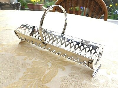 Vintage Silver Plated Pierced And Footed Biscuit/cracker Basket   1350264/269