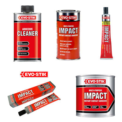 Evo-Stik Impact Adhesives and Adhesive Cleaner Multi Purpose Instant Contact