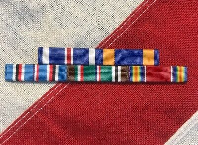 WWII Mounted 5 Ribbon Bar For European Service ETO WW2 DFC AM Made In USA