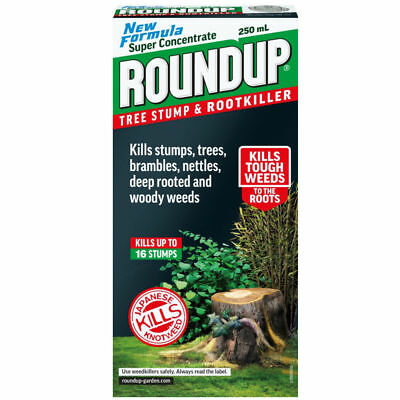 Roundup Garden Tree Stump & Rootkiller New Formula Super Concentrate 250ml