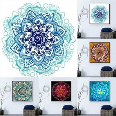 5D Mandala Diamond Painting Cross Stitch Decor Rhinestones Mosaic Embroidery FG