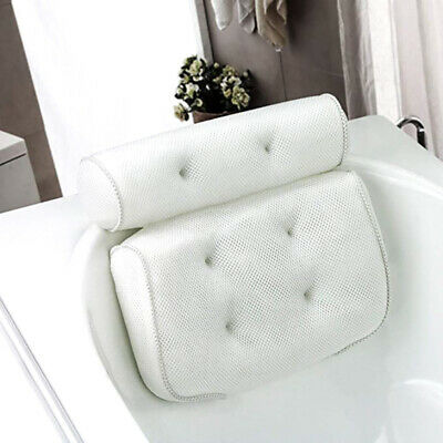 Luxury Waterproof Foam Bathtub Back Pillow Bathroom Spa Suction Cushion OL11