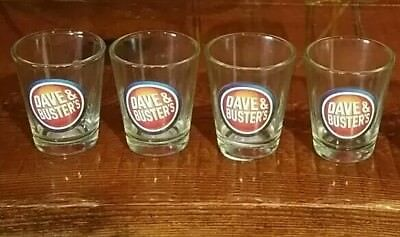Dave and Busters shot glasses selling all 4 together