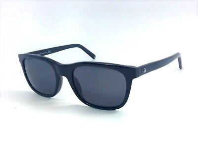 431f0ea24c MONT BLANC MB507 S 01A Shiny Black   Smoke Gradient 53mm Sunglasses ...