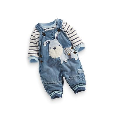 adcb09f61 US BABY BOY Clothes Boys' Romper Jumpsuit Overalls Stripe Rompers ...