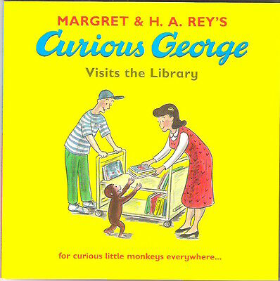 CURIOUS GEORGE VISITS THE LIBRARY Margret & H A Rey TV New pb 2008 Child Classic