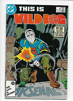 Wild Dog #3 DC 1987 FN+ 6.5 Terry Beatty cover. TV Arrow  character