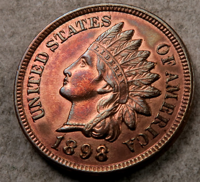 1898 Indian Head Penny // Gem BU // (I122)