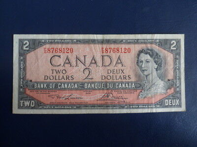 1954 Canada 2 Dollar Bank Note-Lawson/Bouey-PG8768120-VG Cond.  18-281