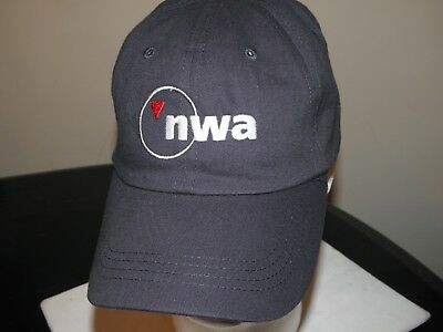 Northwest Airlines Cap Navy Blue Baseball Hat W/dates 1926-2008 Pilot Fa Delta